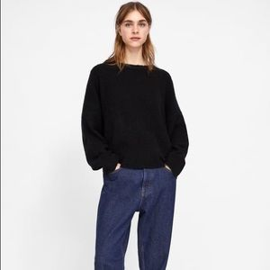 Zara SOFT FEEL Oversized Sweater Round Neck